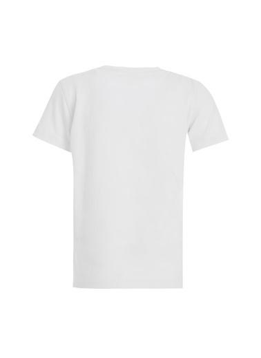 DeFacto Erkek Çocuk Kaplan Baskılı Kısa Kol Tişört Beyaz